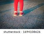 Little Girl Playing Hopscotch ...