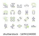 skateboarding symbols color... | Shutterstock .eps vector #1694134000
