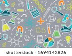hand drawn colorful science...   Shutterstock .eps vector #1694142826
