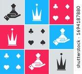 set hand holding money bag ... | Shutterstock .eps vector #1694187880