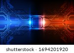 abstract technology chip... | Shutterstock .eps vector #1694201920
