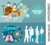 coronavirus banner. covid 19 ...   Shutterstock .eps vector #1694204863