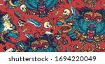 dark fairy tale background.... | Shutterstock .eps vector #1694220049