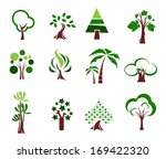 trees. collection of design... | Shutterstock .eps vector #169422320