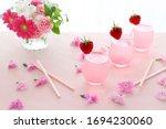 Spring  Pastel Pink Drinks Wit...