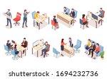 recruitment agency workers in... | Shutterstock . vector #1694232736
