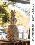 Pineapple Of Golden Decorative...