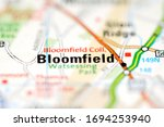 Bloomfield on a geographical map of USA