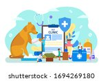 pet veterinary clinic vector... | Shutterstock .eps vector #1694269180