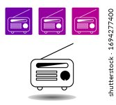 radio icon. simple outline...
