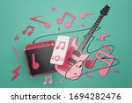 Electronic Guitar With...