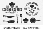 vintage cooking logo with... | Shutterstock .eps vector #1694291983