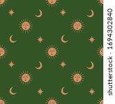 moon and sun celestial boho...   Shutterstock .eps vector #1694302840
