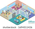 isometric office life people... | Shutterstock .eps vector #1694311426