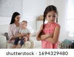 Unhappy Little Girl Feeling...