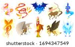 mythical creatures and... | Shutterstock .eps vector #1694347549