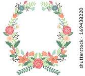 vintage flowers wreath | Shutterstock .eps vector #169438220