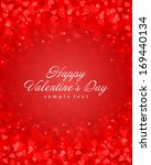 happy valentines day card and... | Shutterstock .eps vector #169440134