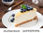 Cheesecake With Blueberries On...