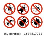 stop insects. tick  bugs and... | Shutterstock .eps vector #1694517796