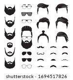 hipster man. male beard ... | Shutterstock .eps vector #1694517826