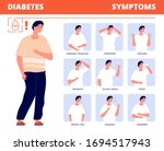 diabetes symptoms. disease... | Shutterstock .eps vector #1694517943