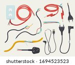 electric problem. damaged... | Shutterstock .eps vector #1694523523