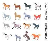 horse breeds. strong beautiful...   Shutterstock .eps vector #1694523790