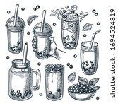 Bubble Ice Tea Drinks Set ...