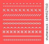 craft embroidery seams. cartoon ... | Shutterstock .eps vector #1694527510