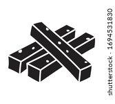 snack vector icon.black vector...   Shutterstock .eps vector #1694531830