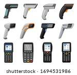scanner vector cartoon set icon.... | Shutterstock .eps vector #1694531986