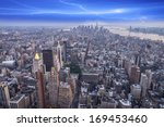 aereal view of manhattan at... | Shutterstock . vector #169453460