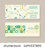 gift voucher template with... | Shutterstock .eps vector #1694537890