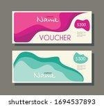 gift voucher template with... | Shutterstock .eps vector #1694537893