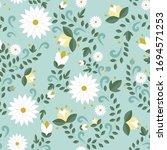 floral pattern  seamless... | Shutterstock .eps vector #1694571253
