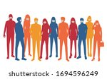 set of vector silhouettes of ...   Shutterstock .eps vector #1694596249