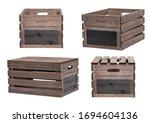 Rustic wooden crates wooden...