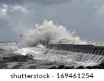 Stormy Atlantic Waves Against...