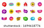 sale banner tags. discount... | Shutterstock .eps vector #1694618776