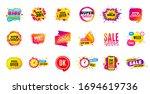 sale offer banner. discounts... | Shutterstock .eps vector #1694619736