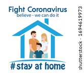 coronavirus  covid 19 campaign... | Shutterstock .eps vector #1694619973