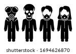 Icon Pandemic Warning Sign...