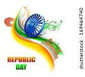 happy indian republic day... | Shutterstock .eps vector #169464740