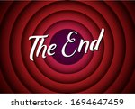 the end movie font comic poster ... | Shutterstock .eps vector #1694647459