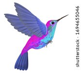 hummingbird isolated. vector... | Shutterstock .eps vector #1694655046