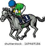 horse racing | Shutterstock .eps vector #169469186