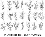 collection forest fern... | Shutterstock .eps vector #1694709913