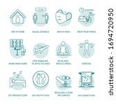 set of icons prevention and... | Shutterstock .eps vector #1694720950