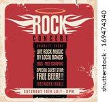 rock concert retro poster... | Shutterstock .eps vector #169474340